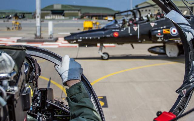 Hawk cockpit