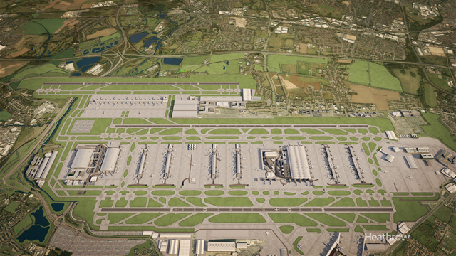 Heathrow 3rd runway - Latest images 01/07/15