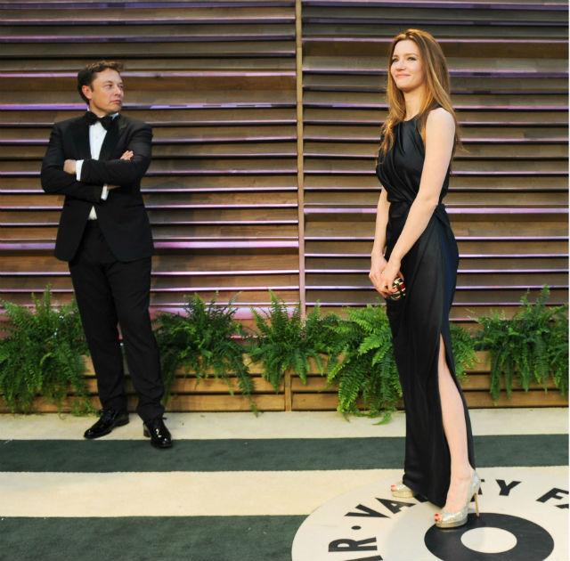 Elon Musk and Talulah Riley c REX