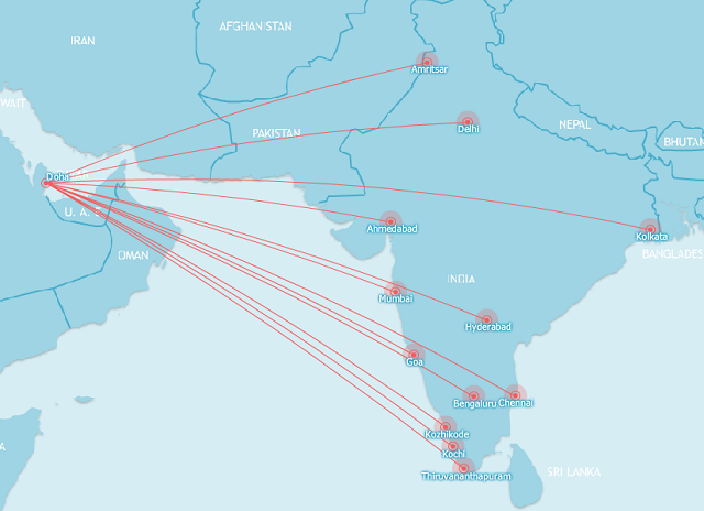 Qatar's India Network August 2015