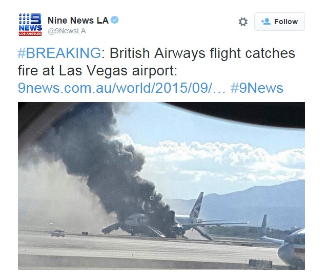 BA 777 LAS fire