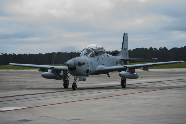 Florida-built A-29 Super Tucano c USAF