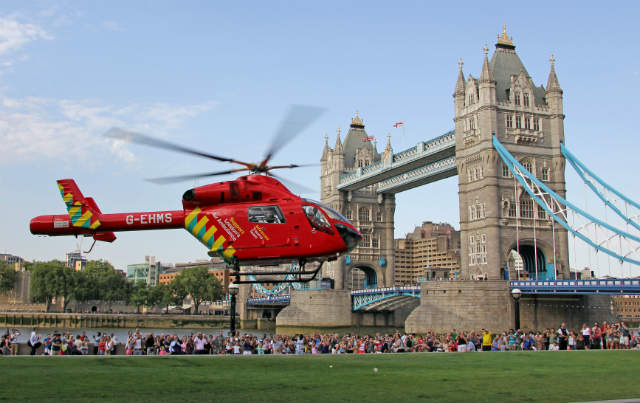London's Air Ambulance Tower Bridge - Matthew Bell
