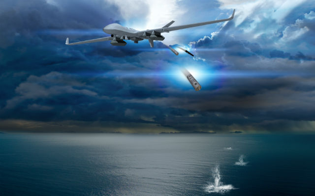 MQ-9 with sonobuoy - General Atomics