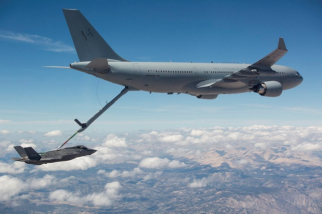 RAAF KC-30A refuels F-35A