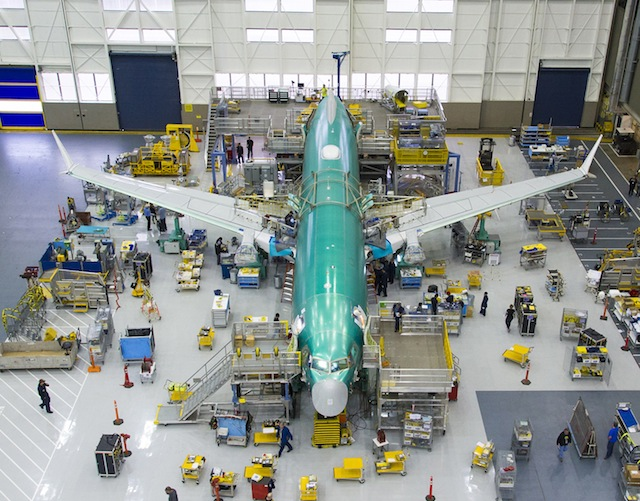 737 Max 8 final assembly
