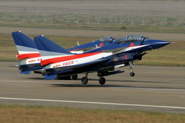August 1 display team China airforce J10 c Peng Ch