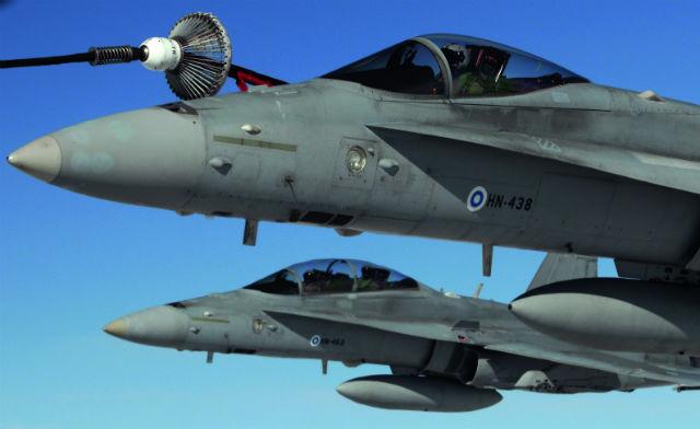 Finnish F-18s - USAFE