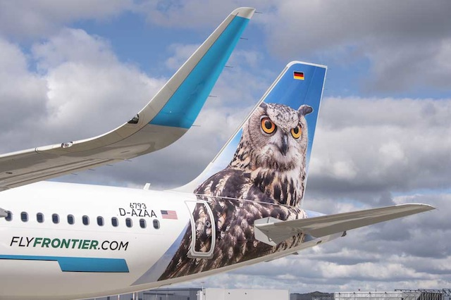 Frontier first A321 close-up