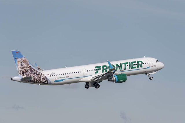 Frontier first A321
