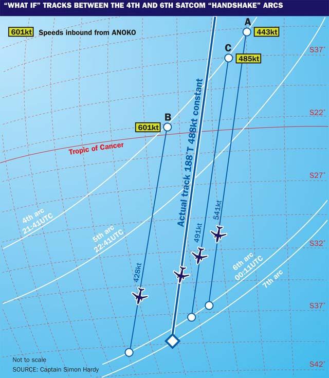 MH370 map Captain Simon Hardy