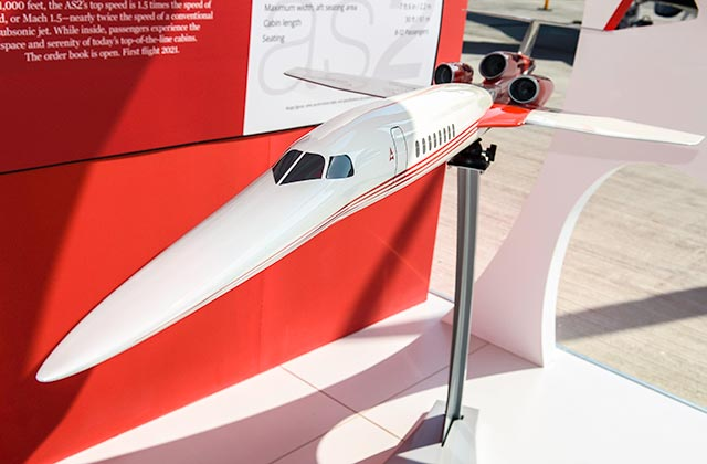 Aerion at the Dubai air show