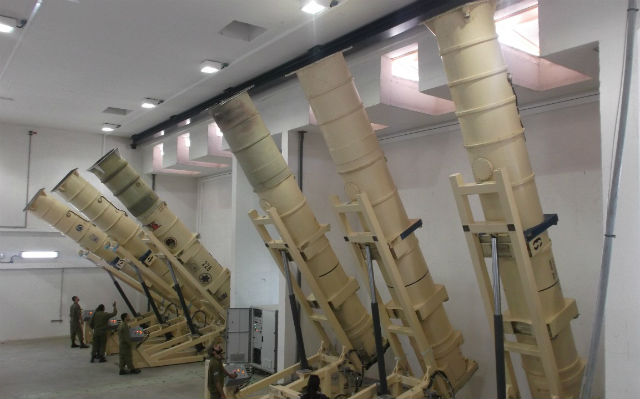 Arrow static launchers - Israeli air force