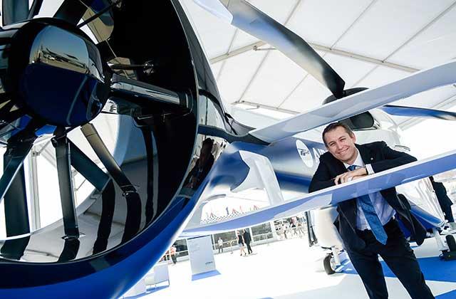 Benoit Terral on the Airbus H160 at Dubai 2015