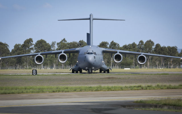 RAAF C-17A delivery Nov 2015 - Commonwealth of Aus