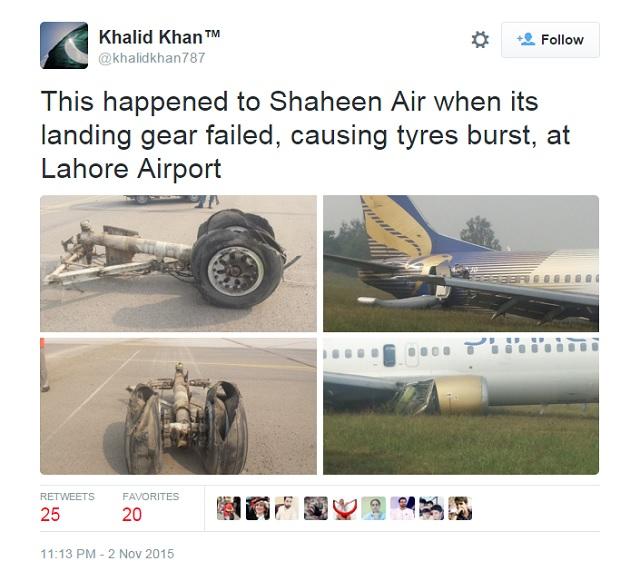 Shaheen Airlines B737-400 crash landing