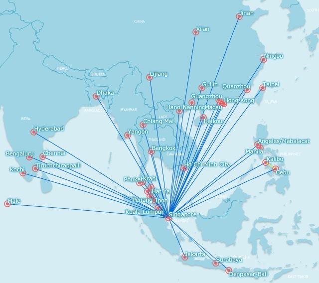 Tiger route network, nov 2015