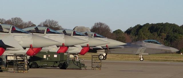 F-22 and RAF Typhoons