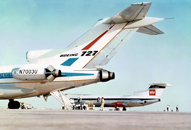 HS Trident and B727