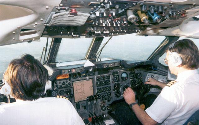 HS Trident cockpit