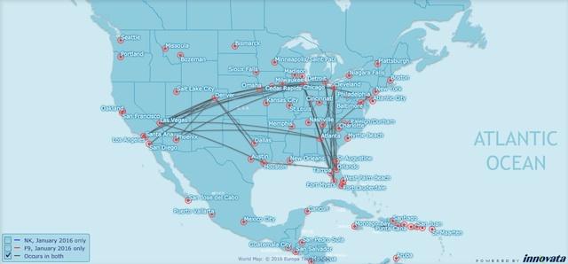 Frontier Spirit network overlap