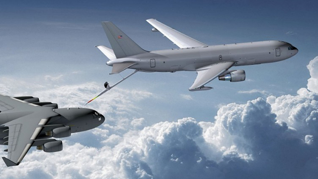 Boeing KC-46 refuelling a C-17. Boeing image