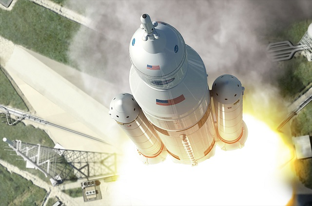 Boeing/NASA Space Launch System. NASA image