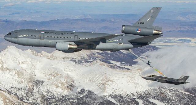 KDC-10 refuels F-35 on March 31. USAF image, via D