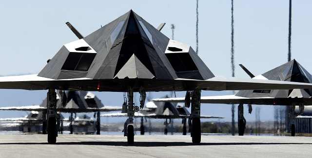 The F-117A Nighthawk, the world's first attack air