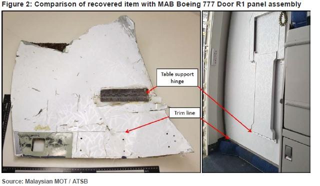 777 door piece MH370