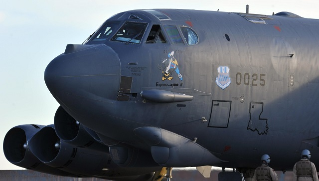 A B-52 Stratofortress from Barksdale Air Force Bas