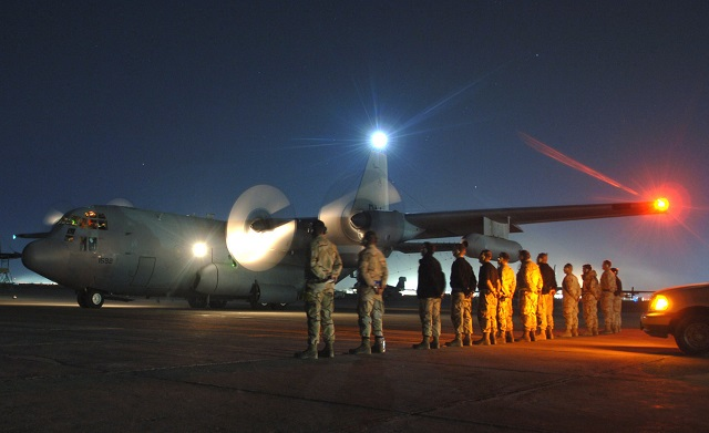 BAGRAM AIR BASE, Afghanistan -- Maintainers watch
