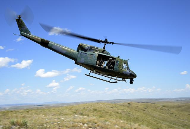 Bell UH-1N Huey ICBM security mission. US Air Forc