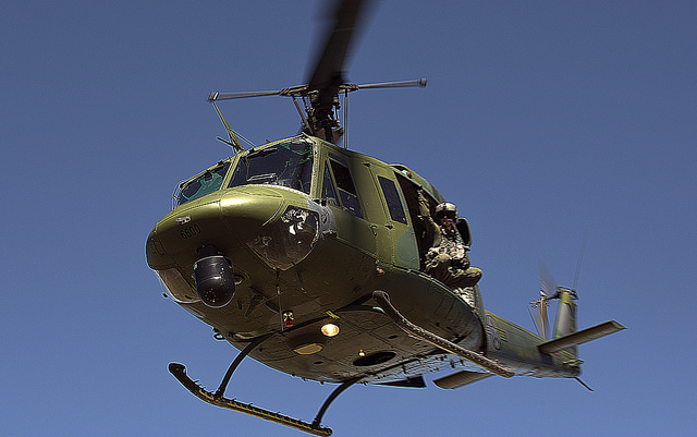 Bell UH-1N Huey ICBM security mission. US Air Forc