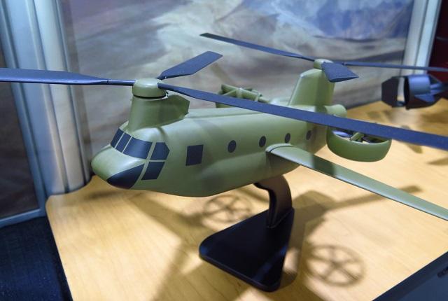 Piasecki Aircraft CH-47D Tilt Duct. James Drew/Fli