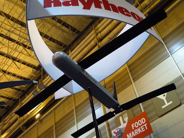 Raytheon Coyote UAS at AUVSI 2016. By James Drew/F