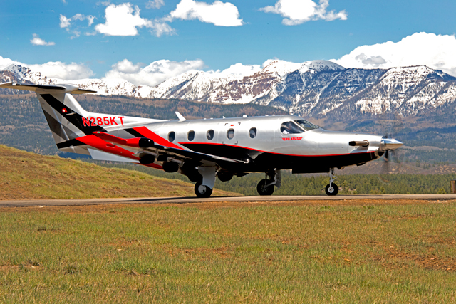 PC-12 flight test