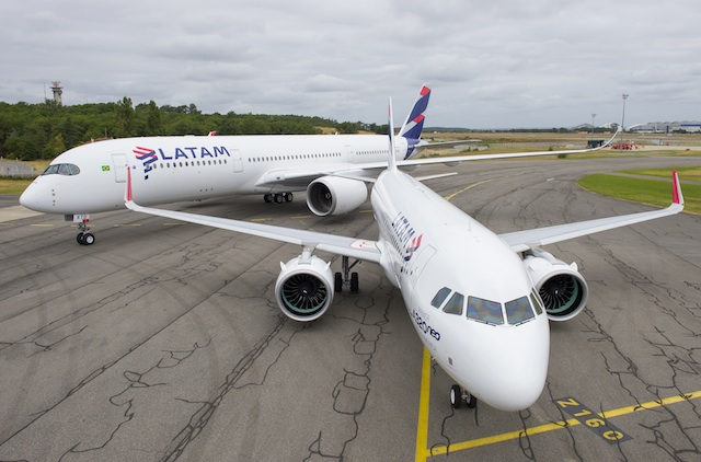 LATAM first A320neo and 4th A350