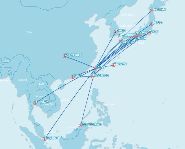 tigerair taiwan network