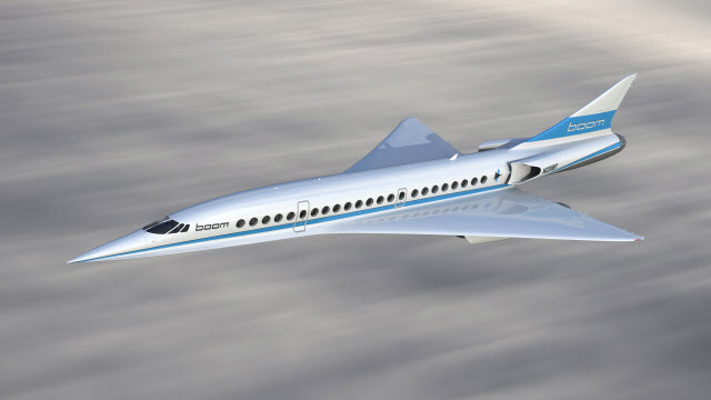 Boom supersonic airliner