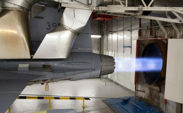 Gripen E engine test - Saab