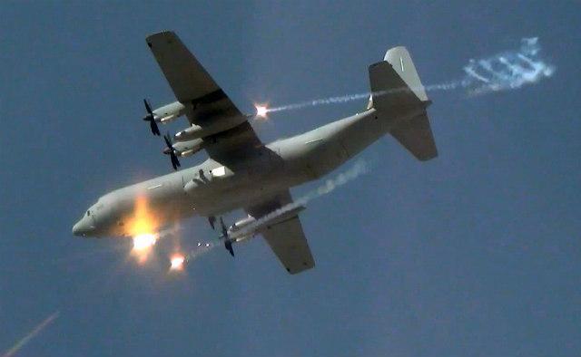 C-130J flare - Israeli air force