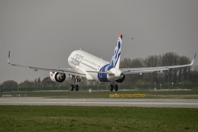 A319neo first flight