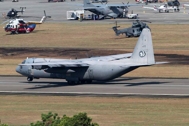 C-130 arrival at Lima 2015