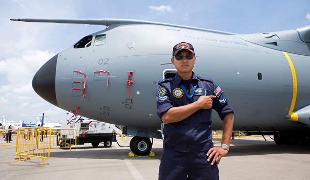 Malaysia A400M Singapore Airshow