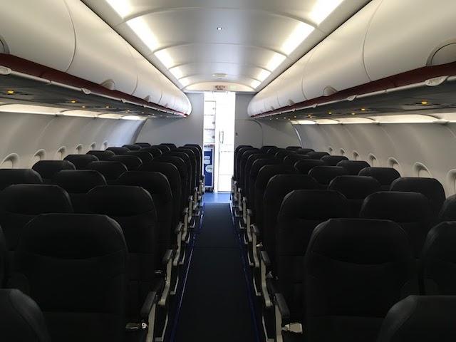 Allegiant new A320 cabin interior
