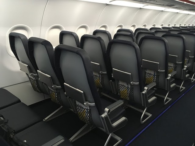Allegiant new A320 seat back