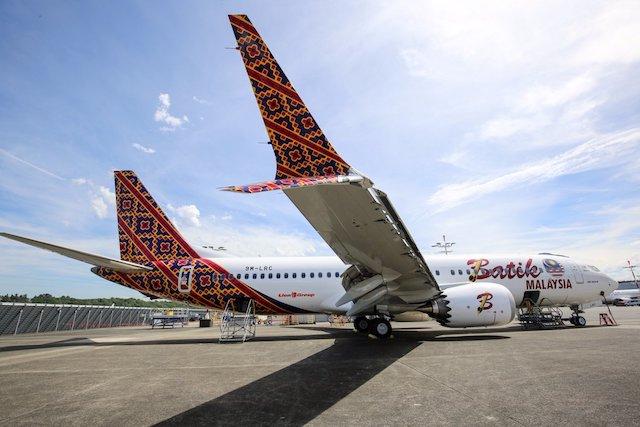 Malindo Batik 737 Max first delivery