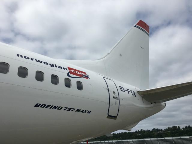 Norwegian 737 Max tail