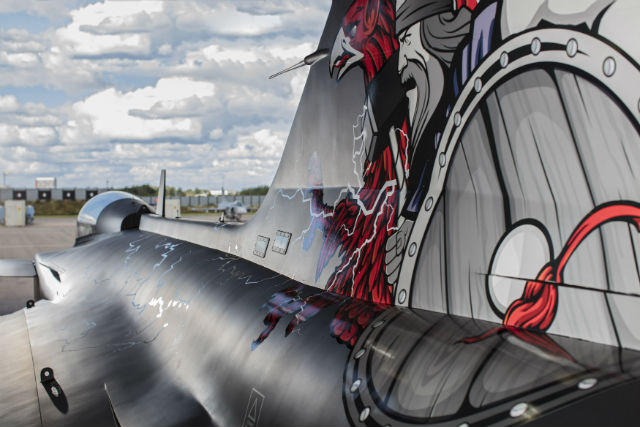 Gripen Aggressor tail - Saab